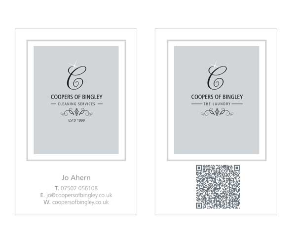 Coopers business card created by Liz Hall Design