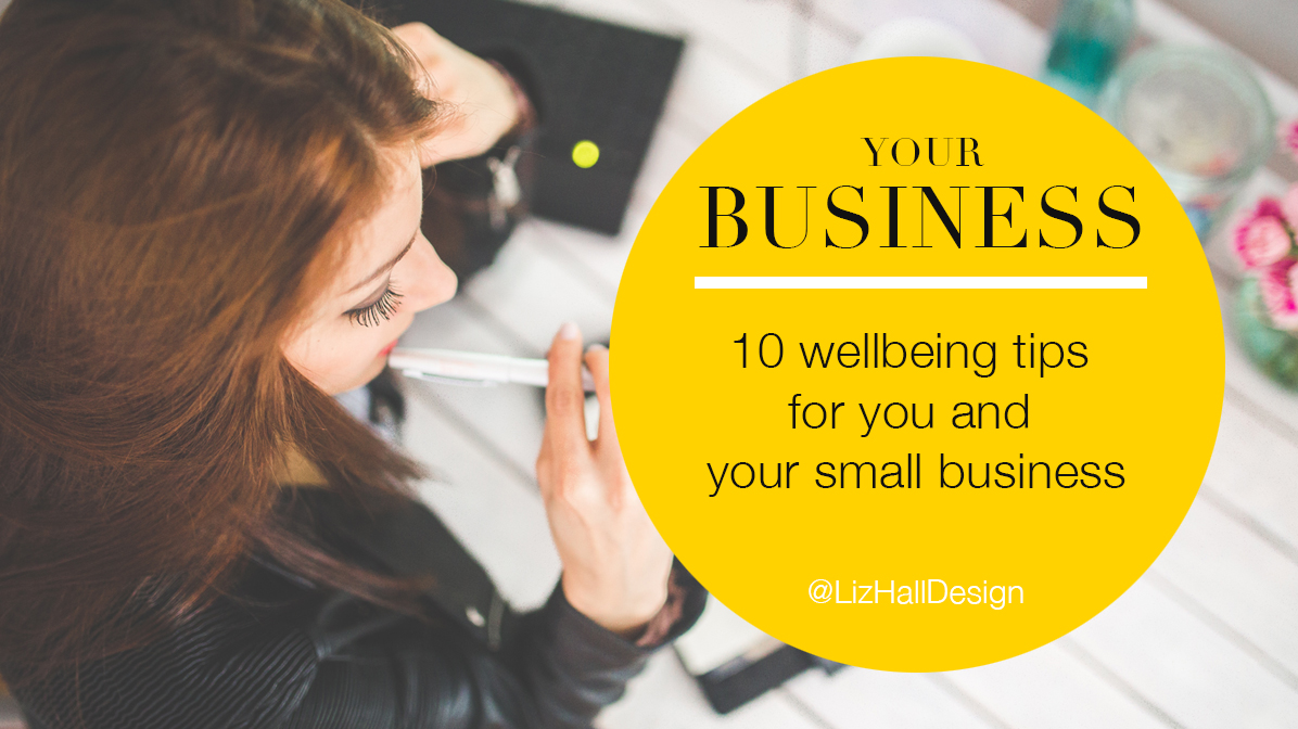 wellbeing at work - Liz Hall Design - Logo design, graphic design, Bradford