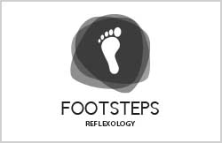 footsteps logo by Liz Hall Design