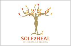Liz Hall design - Sole2Heal logo