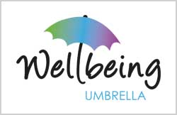 Liz Hall Design - Wellbeing Umbrella logo