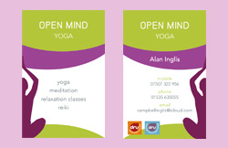 Liz Hall Design - Dru Yoga  business card