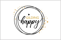 Liz Hall Design - Gilding Happy logo