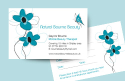 Liz Hall Design - Natural Bourne Beauty appointment card