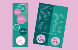 Liz Hall Design - Nirvana Therapies A5 slim leaflet