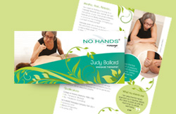 Liz Hall Design - No hands massage leaflet design